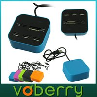 Wholesale New USB HUB Portable Card Reader Colors USB Combo Micro SD MS MMC All In Card Reader quality first