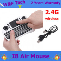 Wholesale Mini I8 Keyboard I8 Air Mouse GHz Mini Wireless QWERTY keyboard Touchpad Best Quality Rii I8 Mini Keyboard For MX M8 Androird TV Box