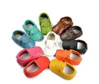 Couro genuíno bebê mocassins Primeira Walker Baby Shoes Bebé recém-nascido Menino Shoes Tenis Infantil Bebe Sapatos Infantis Meninas Wholesale
