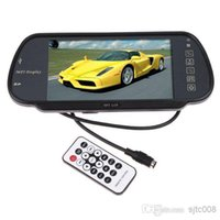 "Cheap K380 7"" Color TFT LCD Car Rearview Monitor SD USB MP5 FM Transmitter Car DVR Free Shippinrg Wholesale"