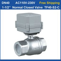 Wholesale DN40 Full Port Stainless Steel Normal Closed Valve TF40 S2 C High Quality Way Electric Water Valve Nm On Off Sec