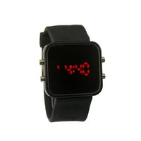 best digital frame - Popular design LED Mirror watches Plastic frame watch Candy colors Quartz Unisex Silicone strap Digital best sale