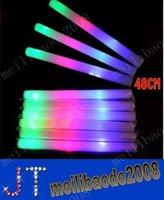 plusieurs matériau de couleur changeant de mousse conduit mousse mousse de bâton lumineux bâton Concert de noël électronique Multicolor éponge bâton éclair bâton MYY3900A