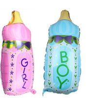 baby nursing bottles - New Baby Cartoon Nursing Milk Bottle Foil Balloon New Born Baby Birthday Party Decorative Balloons Globos Party