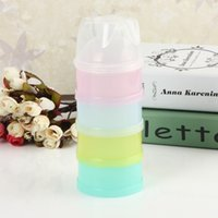 best milk powder - Modern Design Best Price Four Layers Milk Powder Case Bottle Dispenser Travel Kids Baby Feeding Container Convenient And Health