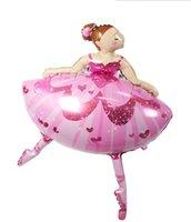 ballet film - Ballet pink girl aluminium film balloon birthday Party Supplies meter