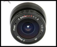 Wholesale 3MP cctv camera lens mm Fixed Iris lens quot cs mount F1 for Security Camera