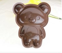 Wholesale 6 inches the whole body of Winnie the Pooh cake Mold DIY Pudding Jelly Silicone Mold Silicone Muffin Cases Cake Cupcake Mold