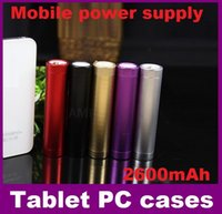Wholesale Small cylindrical mobile power supply aluminum alloy mAh Portable Backup Battery phone Charger USB Power Bank for Smart Phones ups FREE