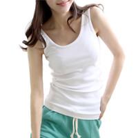 Wholesale 1 X Hot sale Casual Wild Women s Sleeveless Tank Tops Cami No Sleeve T Shirt Vest