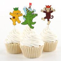 baby shower zoo animal - circus zoo animals cupcake toppers party kids baby bridal shower birthday forest wedding cake topper decor