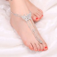 Wholesale 2015 Simple Fresh Foot Jewelry Tassel Butterfly Dropped Charm Ankle Bracelet Silver Chain Women Anklets Accessories Hot
