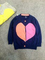 american values - 2016 Limited Rushed Blue Pieces Super Value Mini B Brand Years Girl Heart shaped Cotton Thread Lovely Knit Cardigan