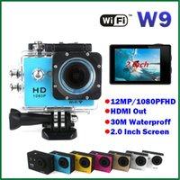 mini dvr camera - Gopro Style Full HD DVR Action Camera W9 wifi P Waterproof M inch Screen Mini DV Wide Angle WIFI