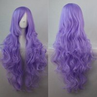 Wholesale 2015 new Womens Lady Long Curly Wavy Hair Full Wigs Cosplay Party Anime Lolita Wig cm