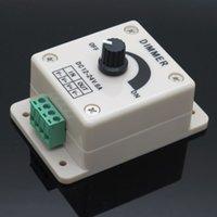Wholesale White Black DC V A PIR led Strip light lamps Switch Dimmer Brightness Adjustable Controller