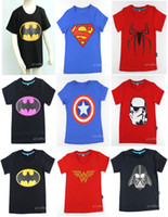 Wholesale 2015 New children clothes boys girls unisex t shirt multicolor superhero costume t shirts cotton children s t shirt