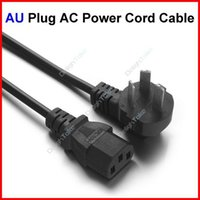 Wholesale Prong AU Plug AC Power Cord Cable m FT For PC Desktop Monitor Computer Power Supply Converter Adapter