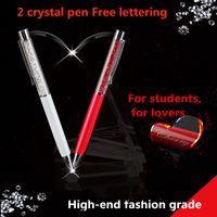 Wholesale 2015 new neutral crystal pen telescopic pen students creative neutral pen drill pen nib Free lettering