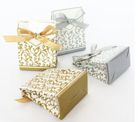 Wholesale Gold or Silver Wedding candy box favor box gift box party box