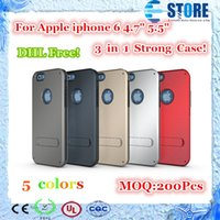 armor factory - DHL Free Slim Armor Hybrid Case for Iphone Case Anti knock Cover With Stand Factory Outlet For Apple iphone inch