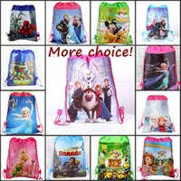 Wholesale Non woven Fabric Frozen children s bags Baby Snacks Backpack for kids children s school cartoon bag designs