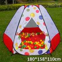 Cheap Big Space Childern Playing Outdoor Pop Up House, Kids Play Game playground Tents, multi-function tent for child exercise toys