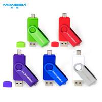 Wholesale 100PCS Free Dhl MOWEEK M32 OTG USB stick GB usb flash drive usb Memory Stick phone USB Pen Drive gift