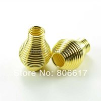 Wholesale Gold Plated Spiral Spring Spacer Beads End Caps Fasteners x14mm W03351 X