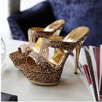 ladies slippers - 2015 Summer Cool Slippers Women Fashion Leopard Costly Diamond Chain Gilded With Cool And Sexy Lady s Slippers k1363