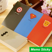 Loose Leaf batman paper - 4 Hero Memo pad Cool memo notes paper Superman Batman Post it stickers stationery office material School supplies