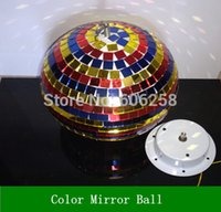 Wholesale Colorfull Light Mirror Reflection Glass Ball Stage Festival Hanging Ball Motor inch CM