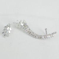 Wholesale NEW Hot jewelry a few In stock Fashion Charm Asymmetric sterling Silver Ear Cuff Stud Clip Earrings