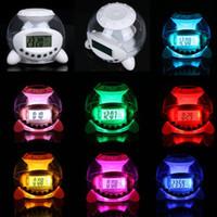 ball alarm - Revitalizing Color Changing LED Ball Calendar Alarm Clock Music Thermometer Natural Sound Desktop Table Clocks Despertador dandys
