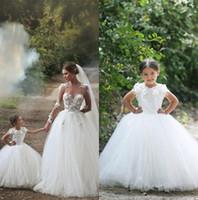Cheap flower girls dresses Best princess long kids formal wear