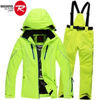 Wholesale winter women s ski suits Rossignol ski jacket waterproof skiing trousers set female outdoor sportwear woman snow coat