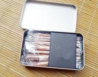 Cheap 2015 Nude 12pcs Makeup Brush Professional Iron box makeup brush set goat hair makeup brushes set makeup tools