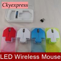 Wholesale New Stylish Transparent LED light Arrow Shape Wireless Mouse GHz USB Optical Mice Cordless Game Computer Laptop Mouse