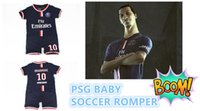 baby soccer clothing - Paris Ibrahimovic PSG soccer baby suit bebe romper Cotton Best quality Newborn Baby clothing
