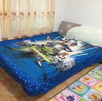 Wholesale Star Wars Bedding Sets Cotton Duvet Cover Sheet Pillow Cover Sets Kids Cartoon Bedding Sets Twin Full Size Kids Gift