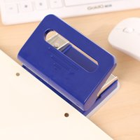Wholesale RS Factory Hole Colorful Scrapbook De Papel Manual Paper Hole Punch Puncher for Stationery Supply RS