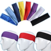 Wholesale Gym Yoga Running Volleyball Cycling Elastic Sweatband Headband Headwear Sport