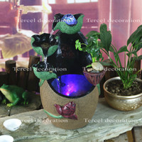 antique chinese jars - Creatie chinese jar style fengshui resin artificial landscape craft indoor air humidity fountain ornaments for home decoration