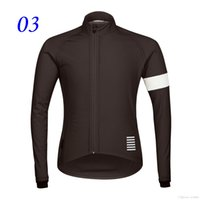 spandex clothing - Long Sleeve Rapha Cycling Clothes Fashion Cycling Jerseys Winter Thermal Fleece Bike Clothing Outdoor Breathable Bicycle Clothing