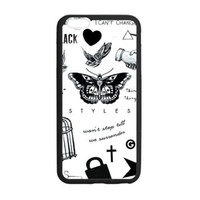 Plastic apples tattoo - 1D Harry Styles Tattoo custom fashion design for iphone case quot plus quot for iphone c cover back case
