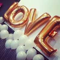 Wholesale inflatable toys Foil Letter Balloons inch gold silver wedding decoration activity party supplies DHL
