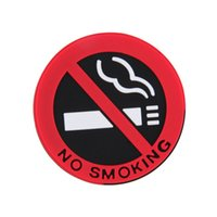 Wholesale 1pc Rubber NO SMOKING Sign Warning Logo Stickers Car Taxi Door Decal Badge Sticker Promotion