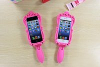 Cheap Magic Cosmetic Mirror and 3D Barbie Girl Beautiful Doll Pink Soft Silicone GEL Case for iPhone 4 4S 5 5S 6 Plus 4.7   5.5 inch