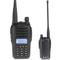 Wholesale BaoFeng UV B6 Walkie Talkie Portable Intercom Phone VHF UHF MHz Dual Band Two Way CB Radio Transceiver KM in retail box