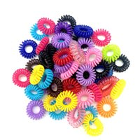 Wholesale 10pcs bag random color Telephone Wire Cord Girl Elastic Head Tie Hair Rope Hair Accessories Hair Styling Tools